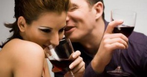 Cheating Husband with Mistress at Bar