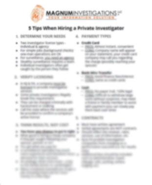 5 Tips Hiring Private Investigator Cover